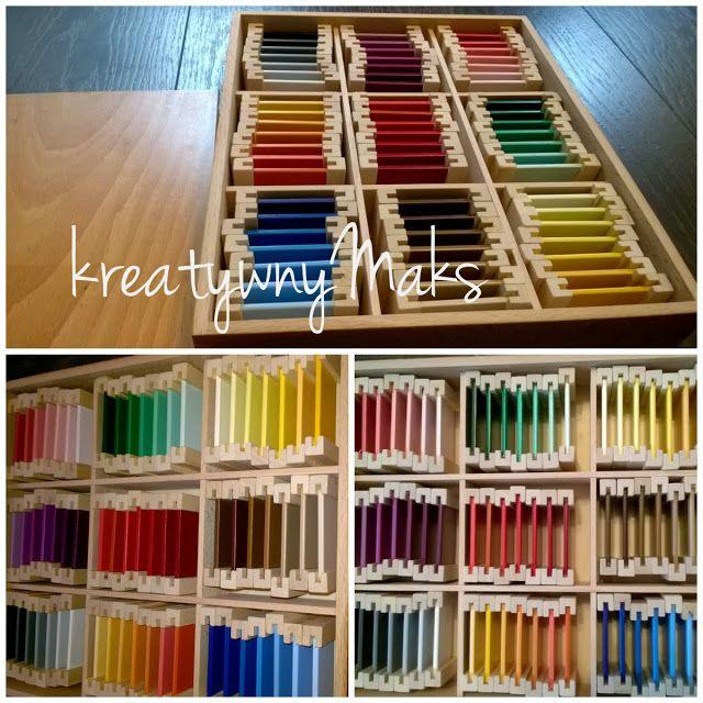 kreatywnyMaks: Montessori - tabliczki kolorów (zestaw III)