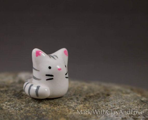 Mini clay kitty