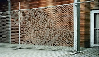 lace fence installation
