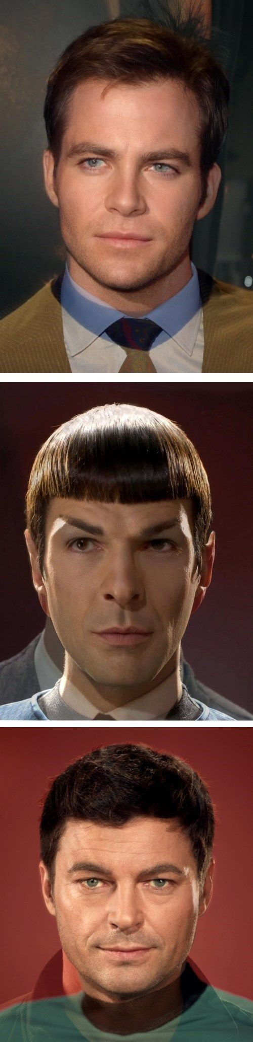 New And Old Casts of Star Trek Combined faces