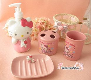 Hello Kitty Bathroom Accessories ♡