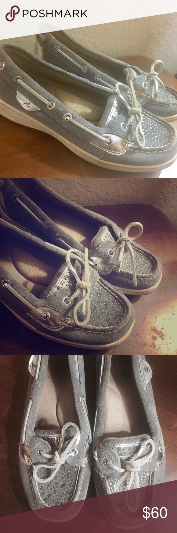 Sperry Grey Sparkle Boat Shoes Excellent condition • Only worn twice • Comfy and look super cute on • Ready for a new home ✨ Reasonable offers accepted • No trades please Sperry Shoes