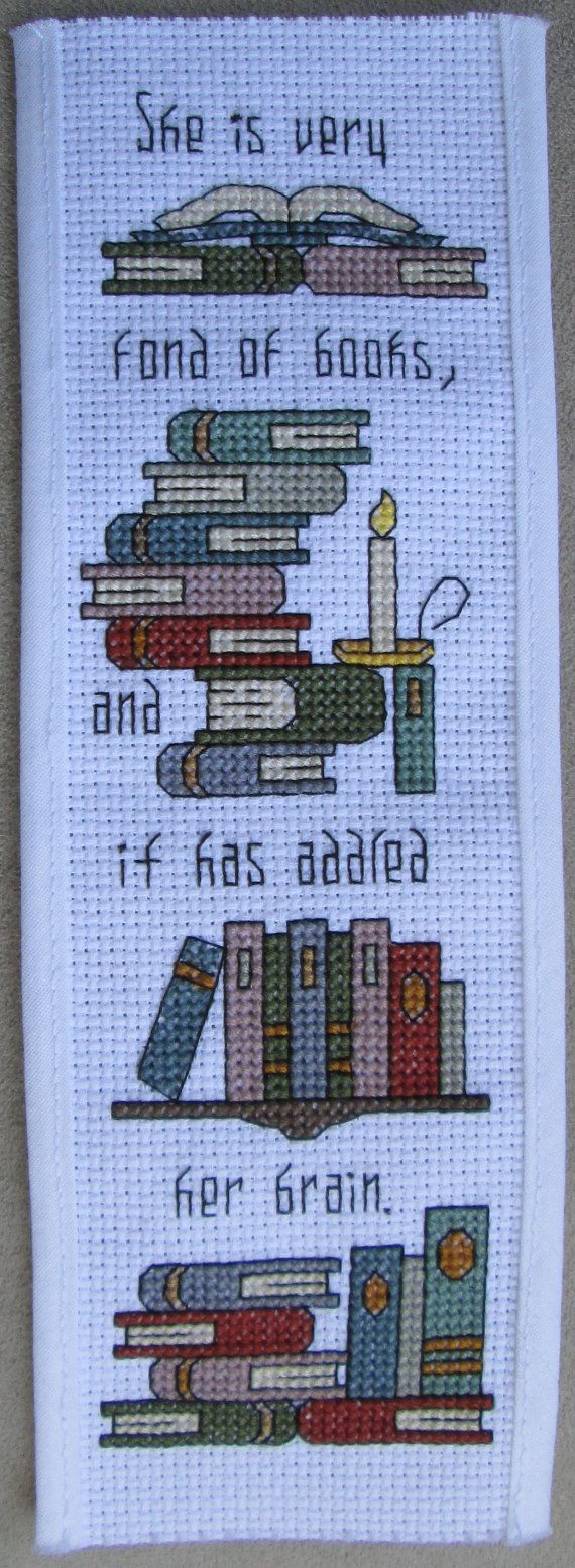Cross Stitch Pattern Addled Her Brain Bookmark di RogueStitchery