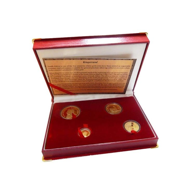 1999 1.85 oz South African Krugerrand Gold Proof 4 Coin Set w/ Box