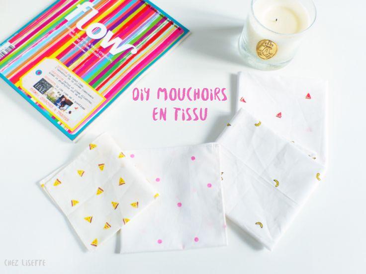 Chez Lisette DIY mouchoirs en tissu