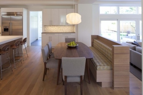 contemporary kitchen by Charlie Simmons - Charlie & Co. Design, Ltd. with Rubio Monocoat oil finished Rift & Quartered White Oak flooring.