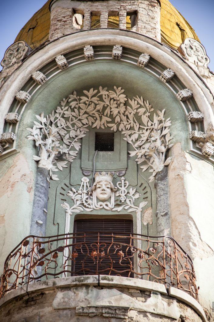 Oradea - le Palais Moskovits, arch. Rimanoczy Kálmán  jr., 1904-1905, detail du balcon. © Musée de Pays des Cris, Oradea