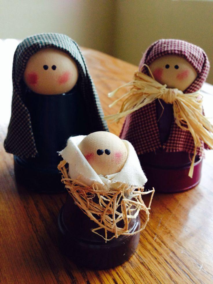 Mini flowerpot nativity