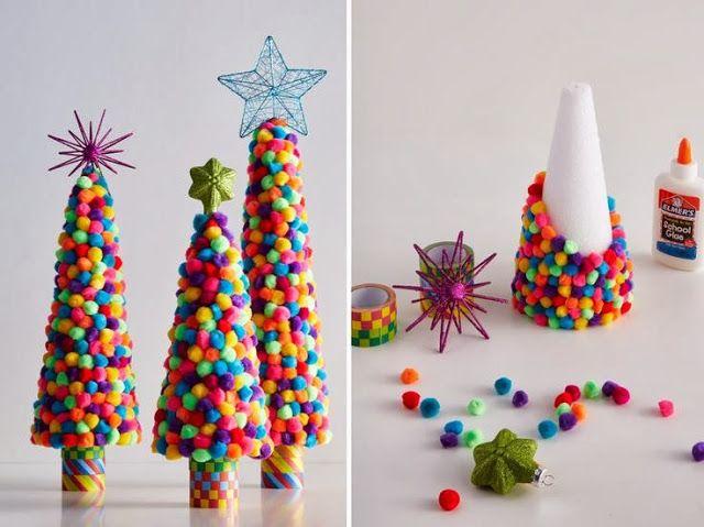 DIY Christmas trees for kids - vintage+little