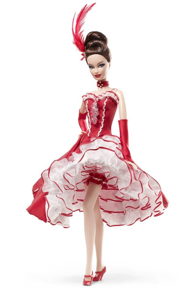 MOULIN ROUGE French Paris CanCan Dancer Gold Label Barbie Collector Doll NIB