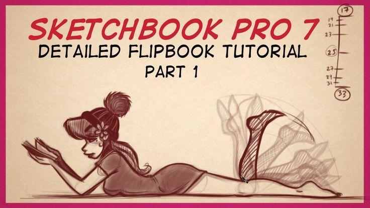 Autodesk Sketchbook Pro 7 FlipBook Tutorial Part 1