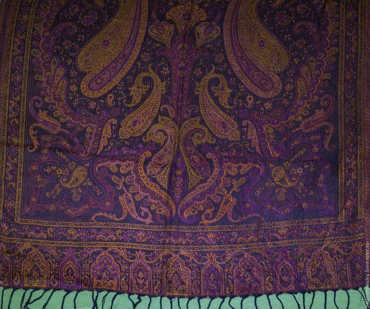 Купить Шелковый палантин - бордовый, пейсли, восток, восточный стиль, восточные мотивы, жаккард, шелк