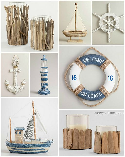 Driftwood and nautical decor ideas & 213 best BEACH HOUSE images on Pinterest | Beach decorations Beach ...