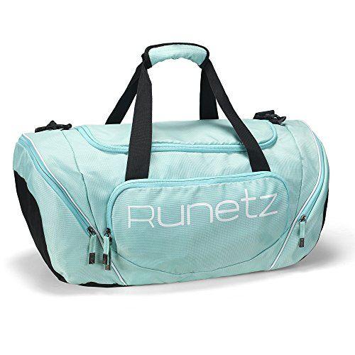 Runetz – TEAL Hot Blue Gym Bag Athletic Sport Shoulder Bag for Men & Women Duffel 20-inch Large – Teal
