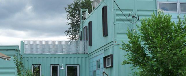 1000 images about casas viviendas y construcciones azules on pinterest en venezuela de web - Casa con contenedores maritimos ...