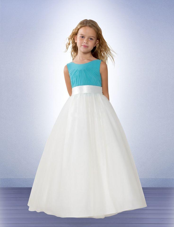 white-aqua-junior-bridesmaid-dresses-