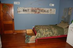 fishing+theme+boys+bedroom | made this sign to go in the boys' hunting and fishing themed room