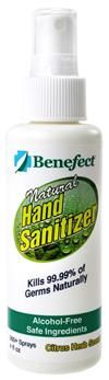 50% OFF Benefect Hand Sanitizer! Non-Toxic, Safe and won't dry out hands since it's the same pH as skin. 99.99% effective against common germs in 15 seconds! Ends 4/15