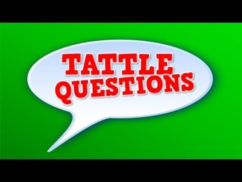 Tattle Questions (song for kids about not tattling) Harry's Kindergarten
