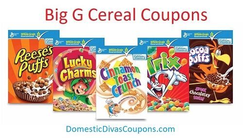 Big G Cereal Coupons|6|23|2017  Big G Cereal Coupons,big list!! http://domesticdivascoupons.com/big-g-cereal-coupons6232017/