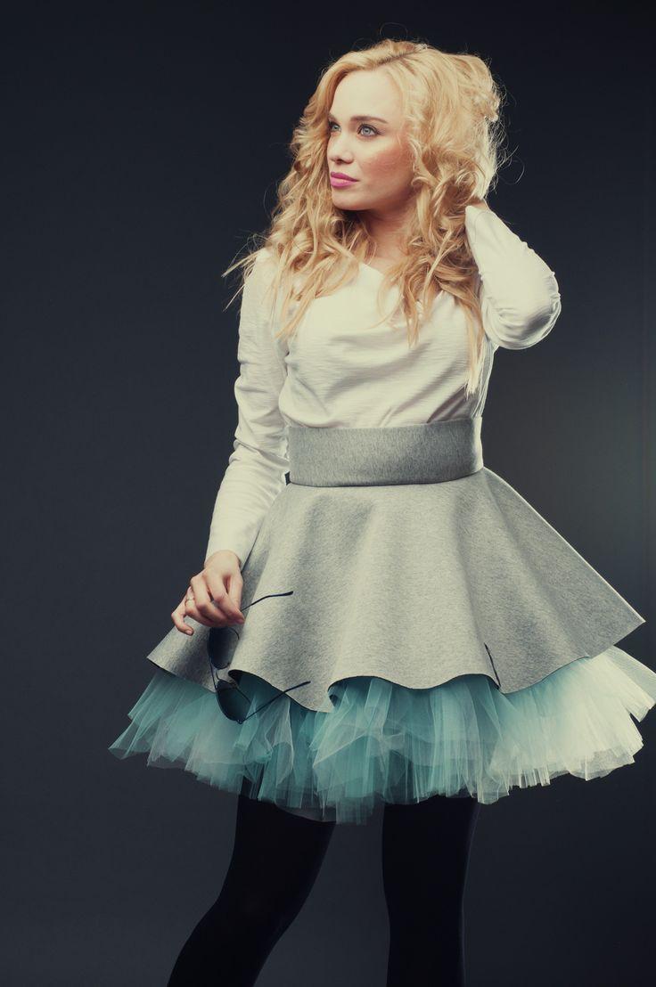 Neon Skirt tulle Blue Lagoon Hultaj Polski sample sale on milieubazaar.com