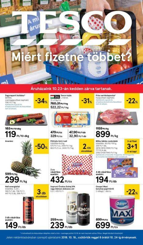 TESCO Akciós Újság 2018. 10.18-10.24-ig  Kolbász 67d2efea3a