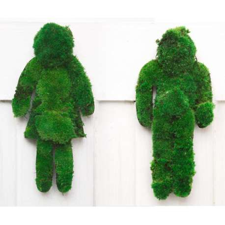 Picto WC Symbol Man-Woman Stabilized Moss