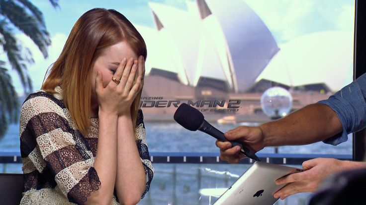 Emma Stone Brought to Tears by Mel B! I think I love this girl, seriously. #EmmaStone
