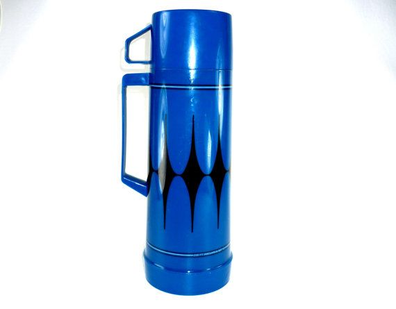 Vintage Blue Aladdin Thermos by ChromaticWit on Etsy