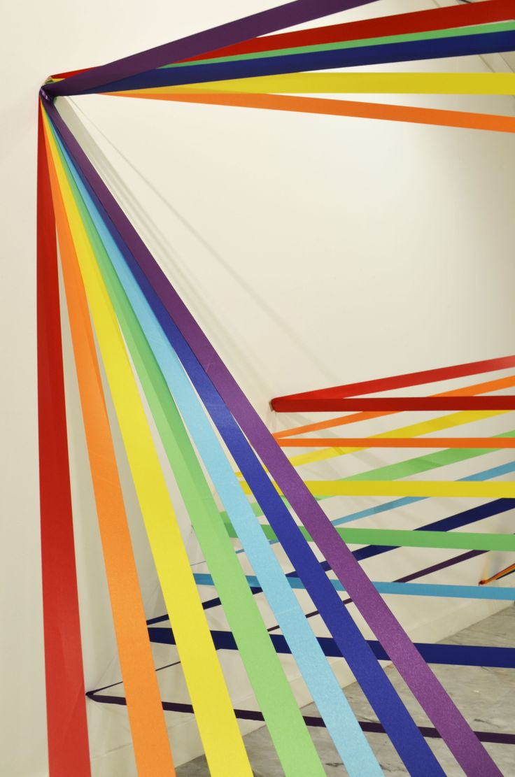 """Senior Project """"The Right to Be Wrong"""", installation, ribbons."""