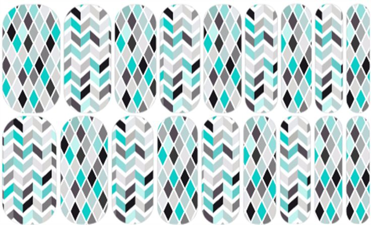 Teal Appeal | Jamberry #candiedjams4u #candiedjams #glossy #girl #glossy #feminine #fun #cute #classy #pretty #teal #black #white #argyle #chevron #wavy #plaid #diamond #feminine glossy