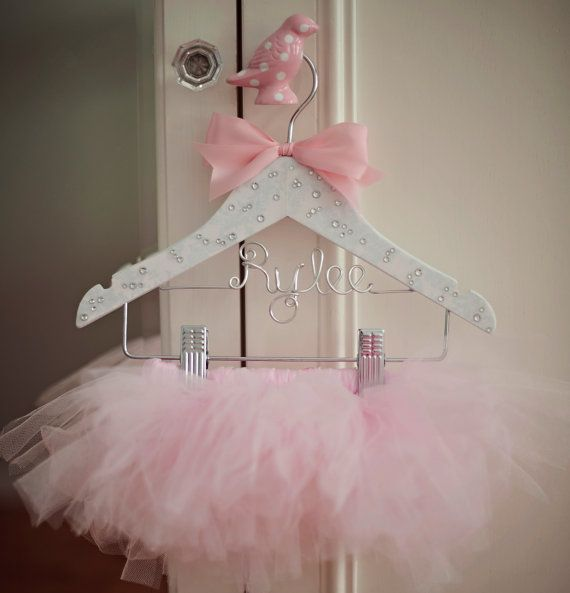 Tutu, Tutu Hanger, Childrens Hanger, Flower Girl Gift, Baby Hanger, Personalized Hanger, Bling Hanger, Little Girls Hanger, Tutu Display on Etsy, $32.00