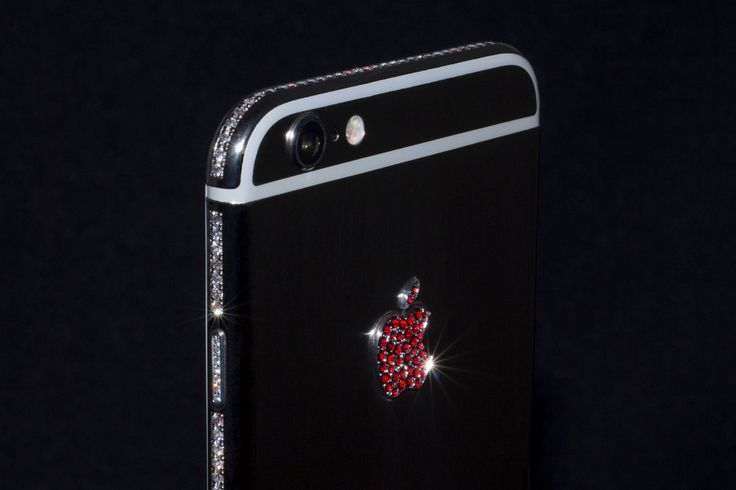 iPhone 6 with zircons and Bohemian garnets