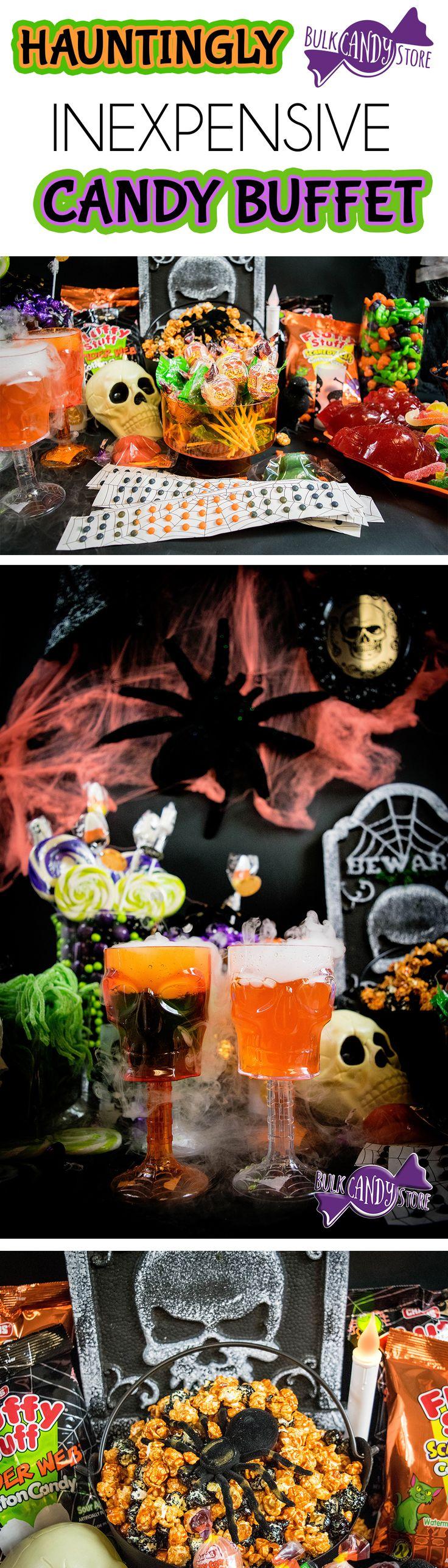Halloween candy buffet idea - Hauntingly Inexpensive Halloween Buffet Bulk Candy Store Blog