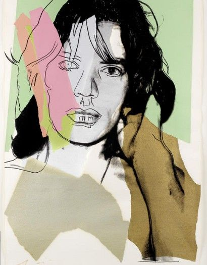 Andy Warhol Jagger screen print to auction for $46,000