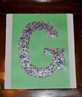 Glitter letter e  Etsy
