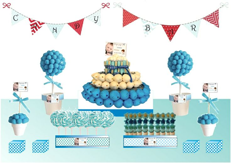 Candy Bar Azul & Blanco ideal para celebraciones muy especiales :)