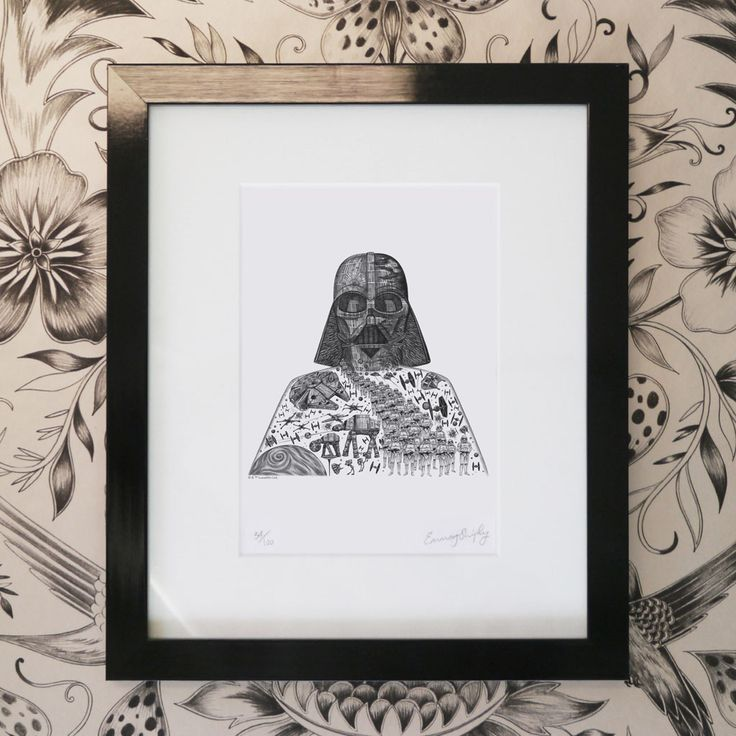Vader-Mini-Print---Black-Frame