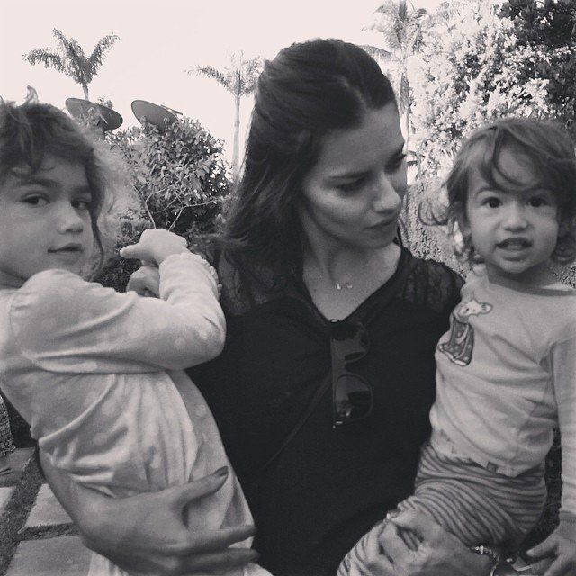 Pin for Later: The Sweetest Candid Celebrity Mom Snaps Adriana Lima With Valentina and Sienna