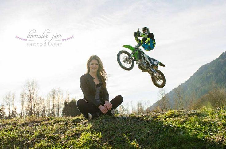 Dirt bike engagement photography