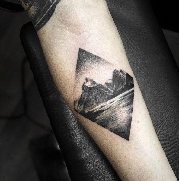 New Zealand landscape tattoo by @shirmaineanne Soular Tattoo - Christchurch - New Zealand