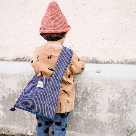 Monk Fabric bag -hickory striped denim- | Soffi...