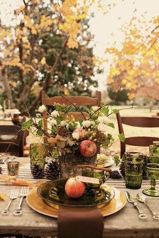 Fall alfresco table setting