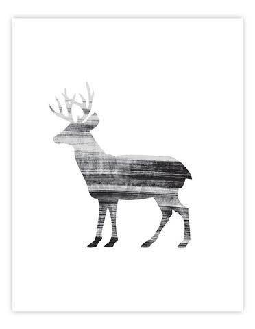 THE PRINTLend a touch of Scandi style to your home decor with this stunning monochrome art print. This art print has been professionally produced on heavy weight art stock (250gsm/satin finish) using lightfast pigment based inks result...