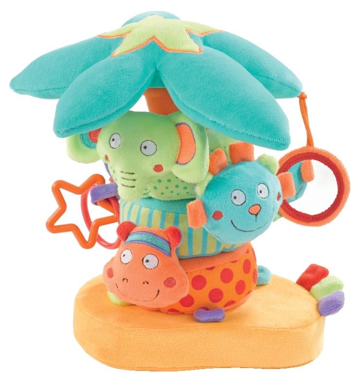 Stapelringen Palm is zacht babyspeelgoed geschikt voor een baby vanaf 6 maanden en zit boordevol leuke babyspeeltjes. De zachte ringen van de stapelringen Palm zijn allemaal voorzien van een dierenkop en nog diverse extra's. Leuk om te geven als kraamcadeau! #stapelringen #babyspeelgoed #fehn #peuterspeelgoed #stapeltoren #speelgoed