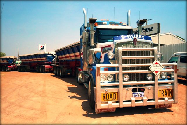 Road train in Port Headland, Western Australia