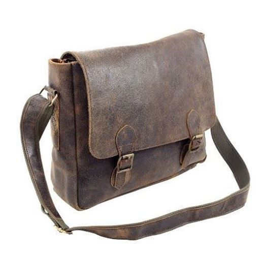 Show details for RUGGED LEATHER MESSENGER