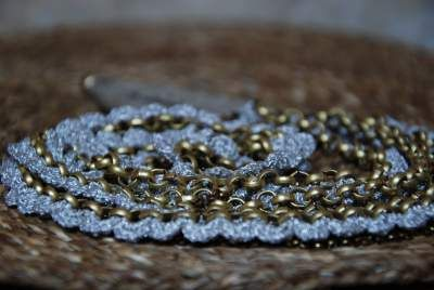 Scalloped Antique Gold, created with scalloped crochet on strings of chain. Simple yet elaborate, it adds dignity and elegance to any outfit. Order it online: http://shop.maya-bazaar.com/Spring-Summer-14/Scalloped-Antique-Gold-id-948127.html