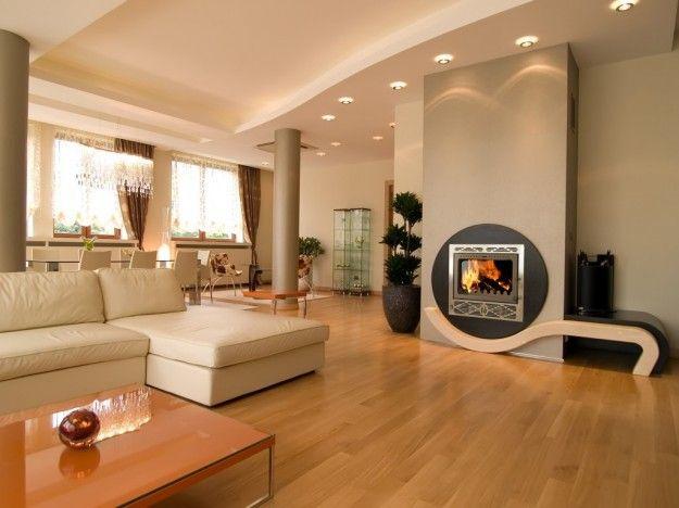 Regole per arredare il salotto - Salotto moderno con parquet