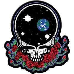 """Grateful Dead - Space Your Face Small Patch - $4.99 This Grateful Dead patch has the space your face design. Can be sewn or ironed on.  Approx. size is 2 1/2"""" by 3"""". Officially licensed Grateful Dead merchandise."""
